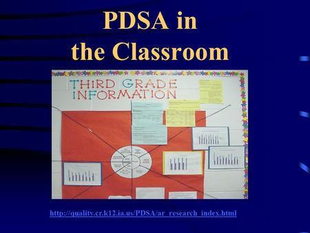 PDSA in the Classroom