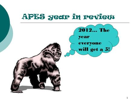 APES year in review 2012… The year everyone will get a 5! 1.