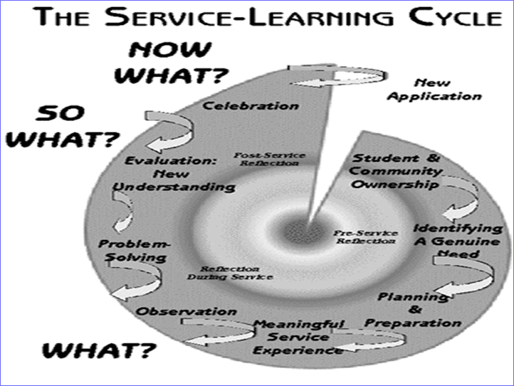 The Cycle of Service-Learning Chart